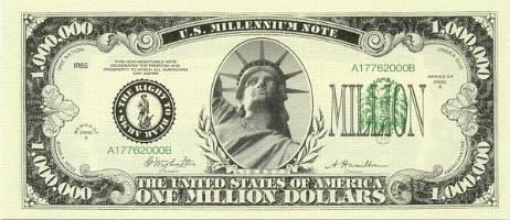 MILION DOLARÓW , 1000000$ !!!!!