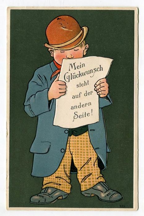 PAN W MELONIKU I ŻYCZENIA URODZINOWE - WYTŁ. 1911