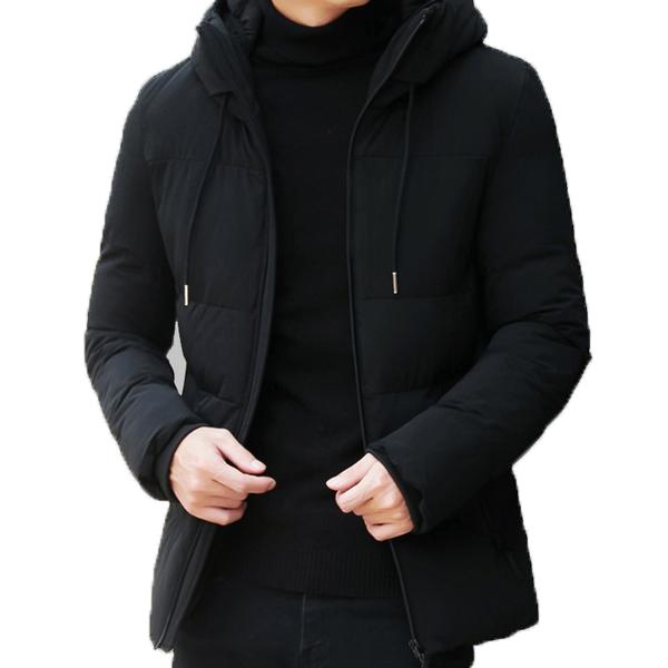 kurtka zimowa męska elegancka z kapturem