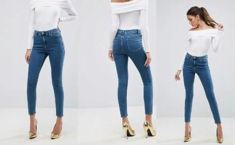 ASOS Denim spodnie jeans wysoki stan 36 S