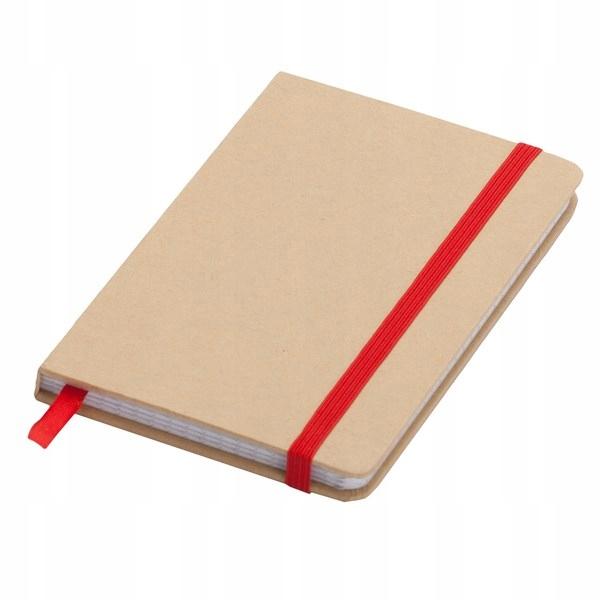 Notatnik 90x140/80k kratka Lisboa Mini, czerwony/b