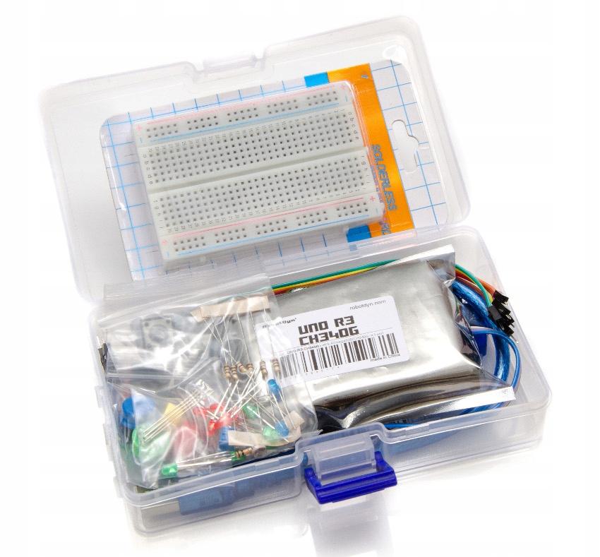 Zestaw Starter Kit ARDUINO UNO + pudełko