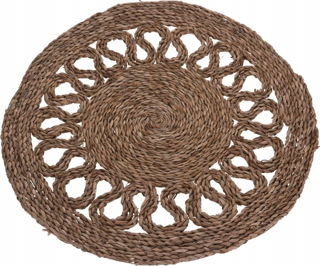 Dywan dywanik okrągły z trawy morskiej mata podłog