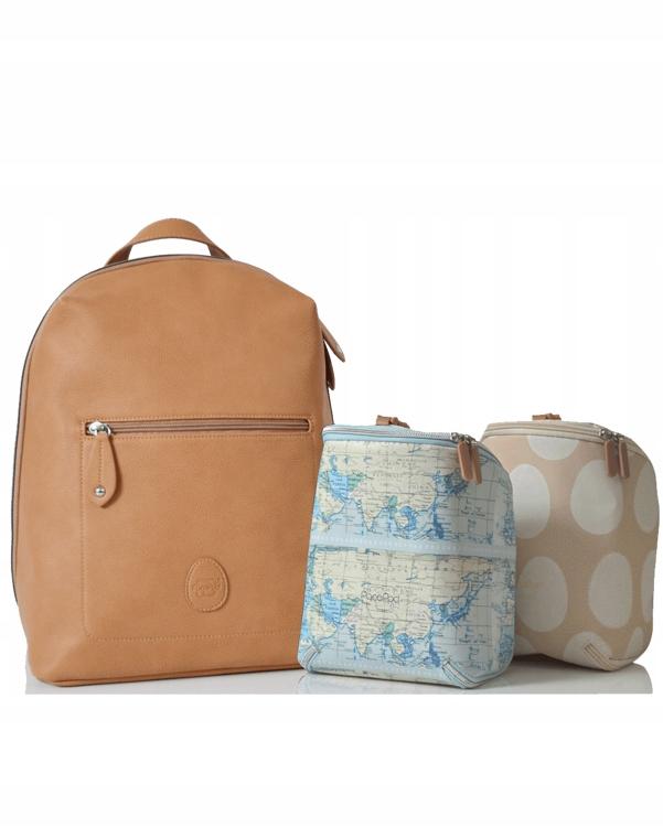 PacaPod Plecak dla mamy Hartland ze skóry ekologic