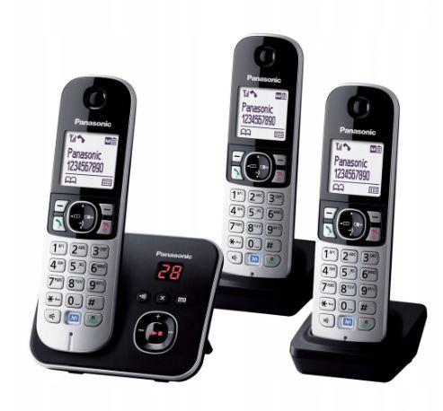I0462 PANASONIC KX-TG6823 ZESTAW TELEFONÓW 3SZT.