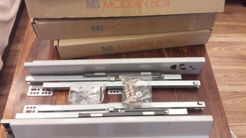 Modern Box GTV nowy komplet niski szary L-450