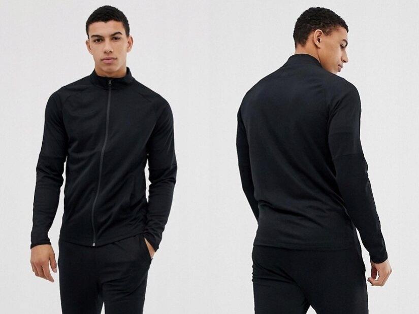 Nike Football - czarna kurtka sportowa XXL