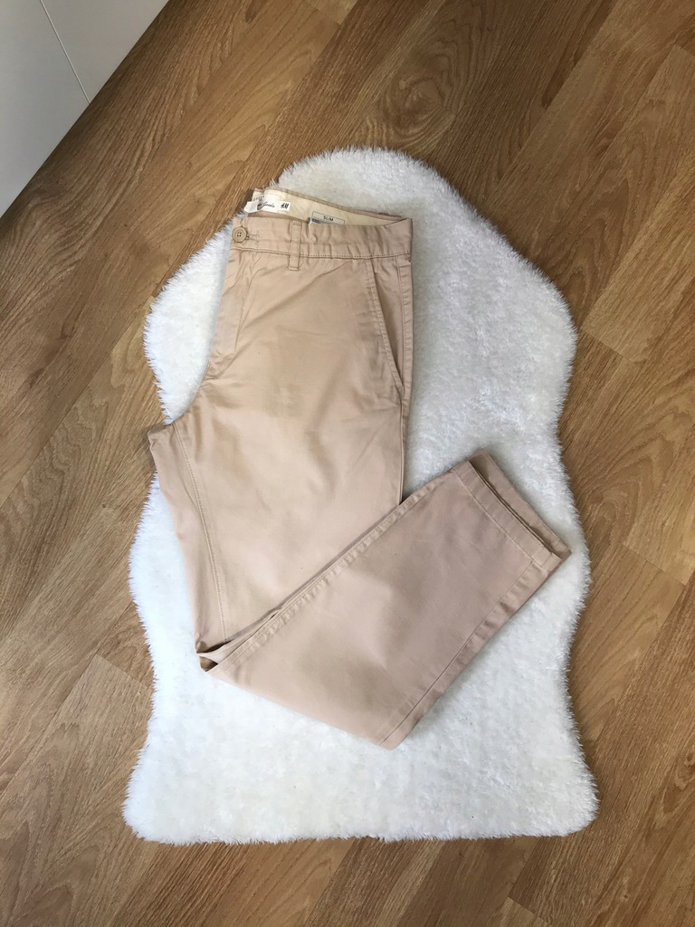 Spodnie męskie H&M beżowe 33