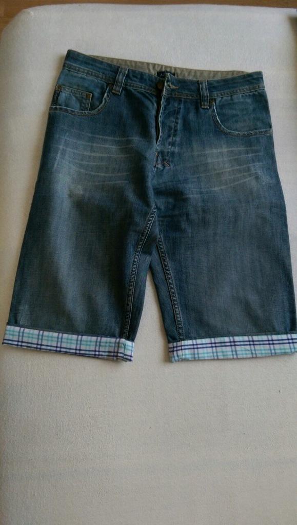 Spodnie jeansowe, oryginalne Armiani AJ, krótkie