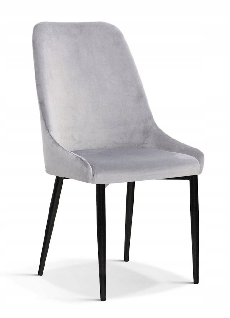 Krzesło OLIVIER M srebrny/ noga czarna/ BL03