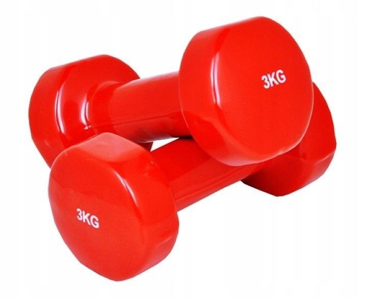 Hantle hantelki do ćwiczęń fitness 2 x 3 kg