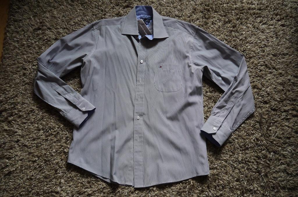 Koszula Tommy Hilfiger - Rozm. M/L - IDEALNY STAN