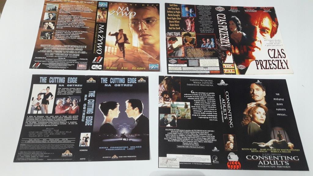 A-0792 pakiet 8 okładek kaset vhs