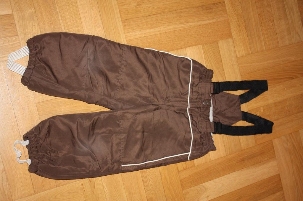 Brązowe ocieplane spodnie C&A r 104