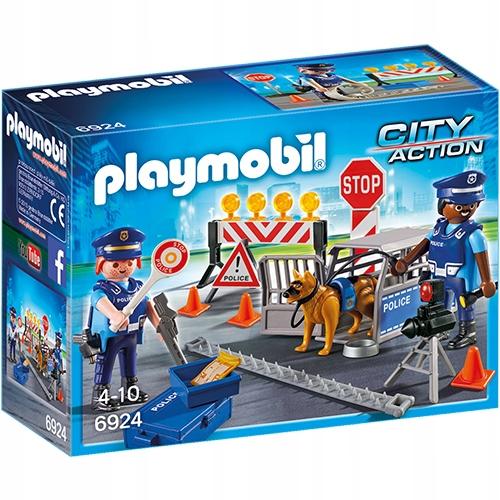 Blokada policyjna policja policjant Playmobil 6924