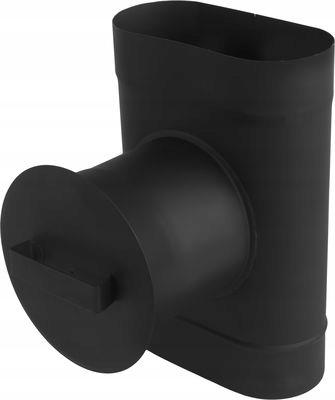 Wyczystka owalna czarna z zaślepką 100/200 2mm