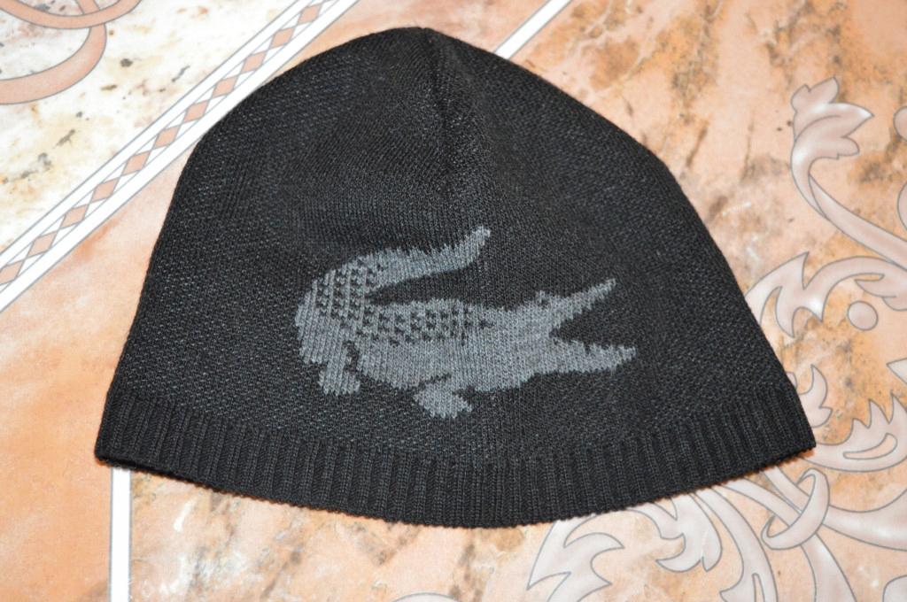 czapka męska Lacoste 50% wełna r.S