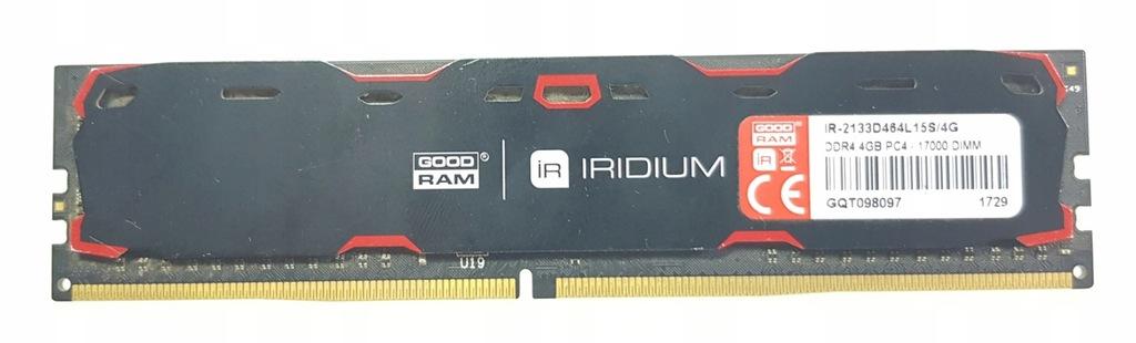 Pamięć RAM DDR4 GOODRAM Iridium 2133MHz 4GB