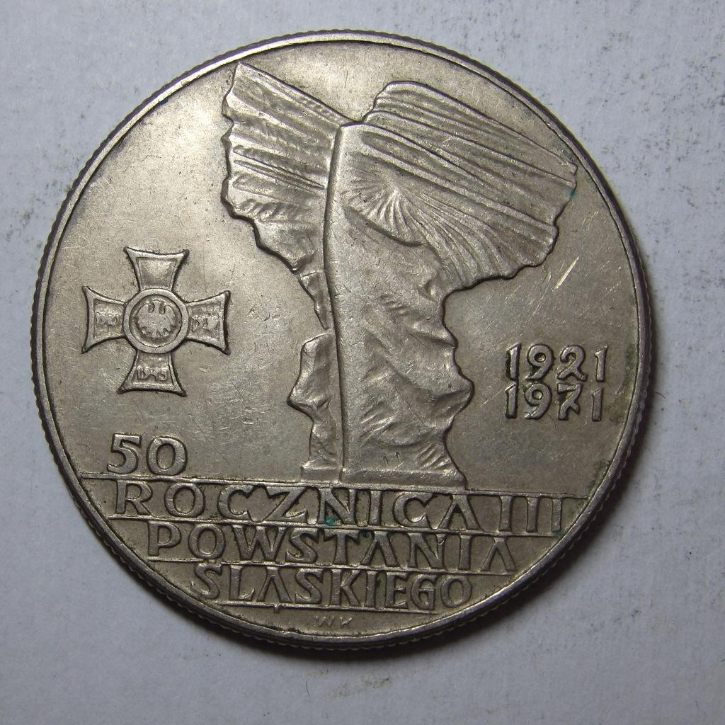 10zł 50 rocz. Powst. Śląsk. 1971r. PRL BCM(8410n)