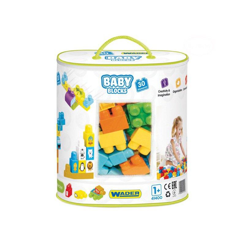 Klocki Wader Baby Blocks Torba 30 elementów 41400
