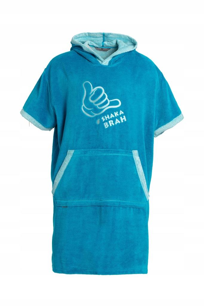 Poncho szlafrok ręcznik dla dzieci 140/160 Turkus