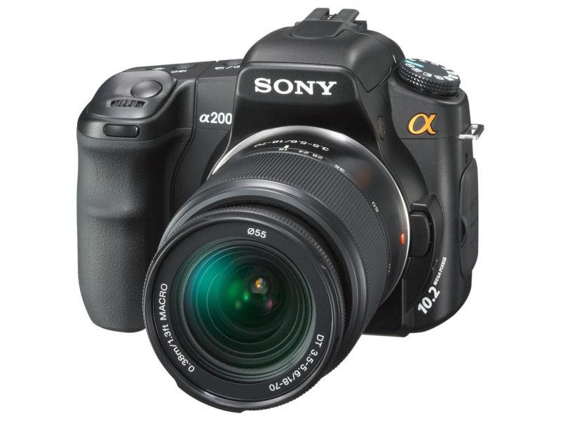 Aparat Sony Alpha Dslr A200 A200 10mp Dt 18 70 Kit 6808862044 Oficjalne Archiwum Allegro