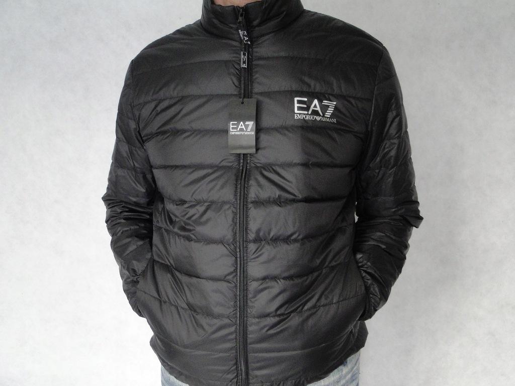 kurtka Armani EA7 S czarna stójka Italy
