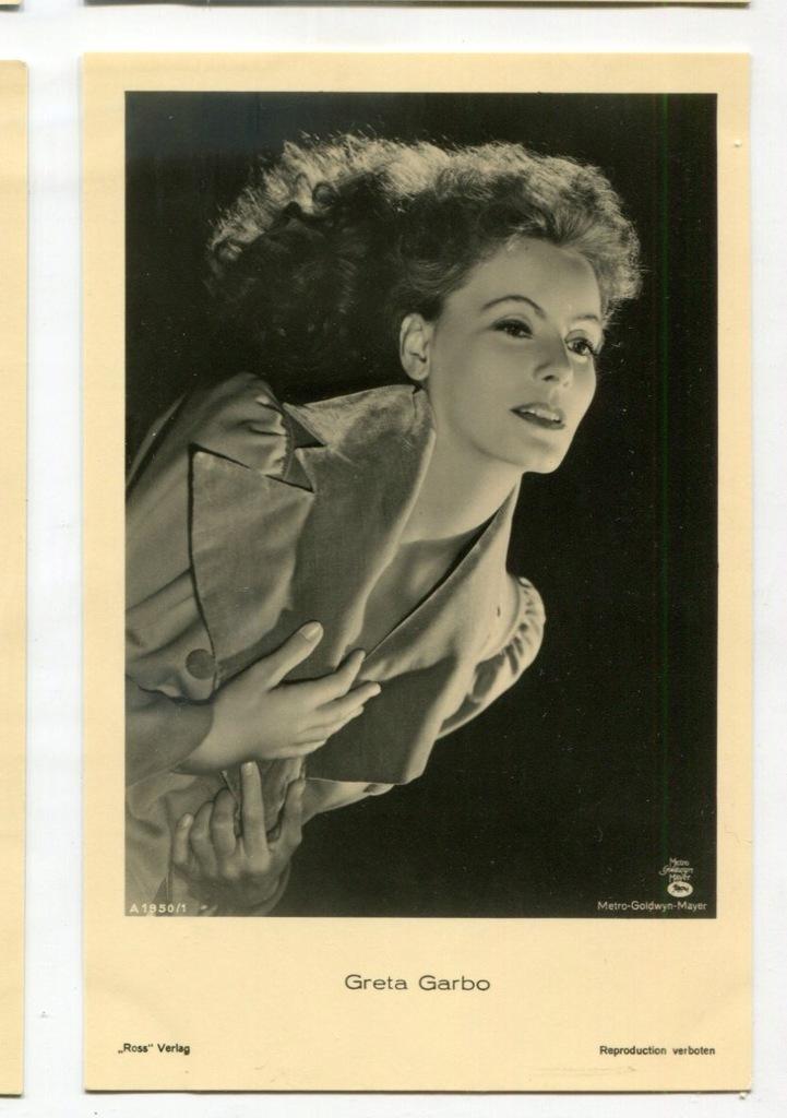 Greta Garbo Kino Film Aktorka Foto Pocztówka 34