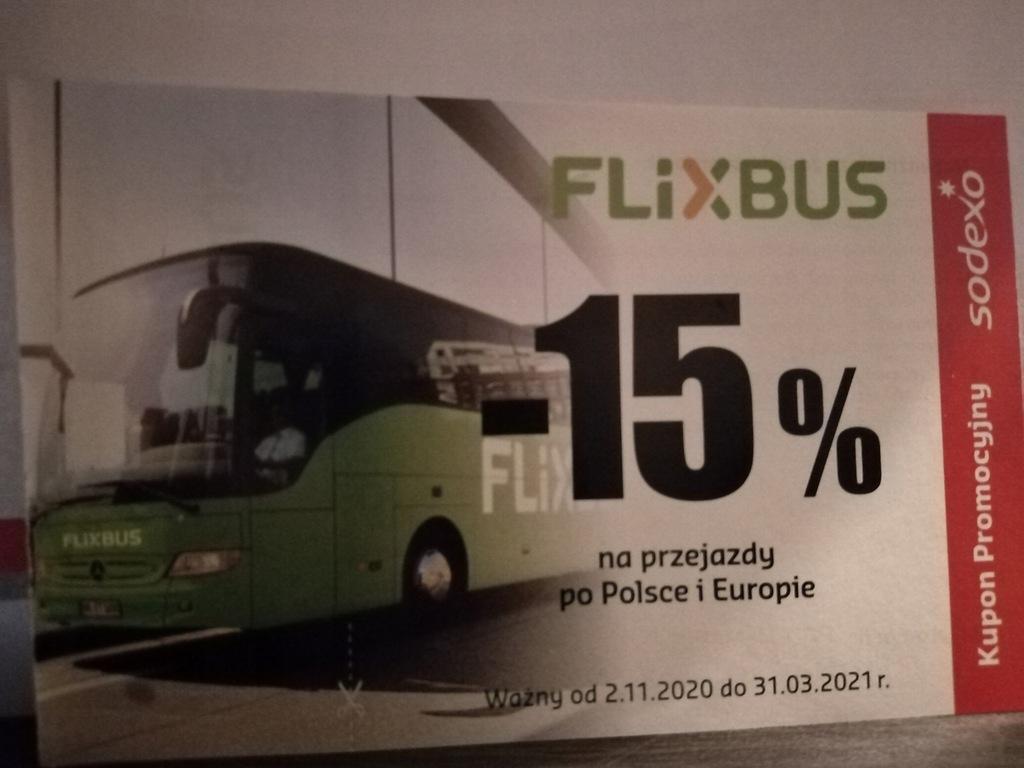 Kupon Bon podarunkowy Sodexo Flixbus 15%