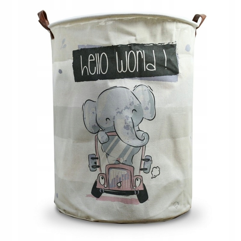 POJEMNIK KOSZ NA ZABAWKI lub pranie szary slon