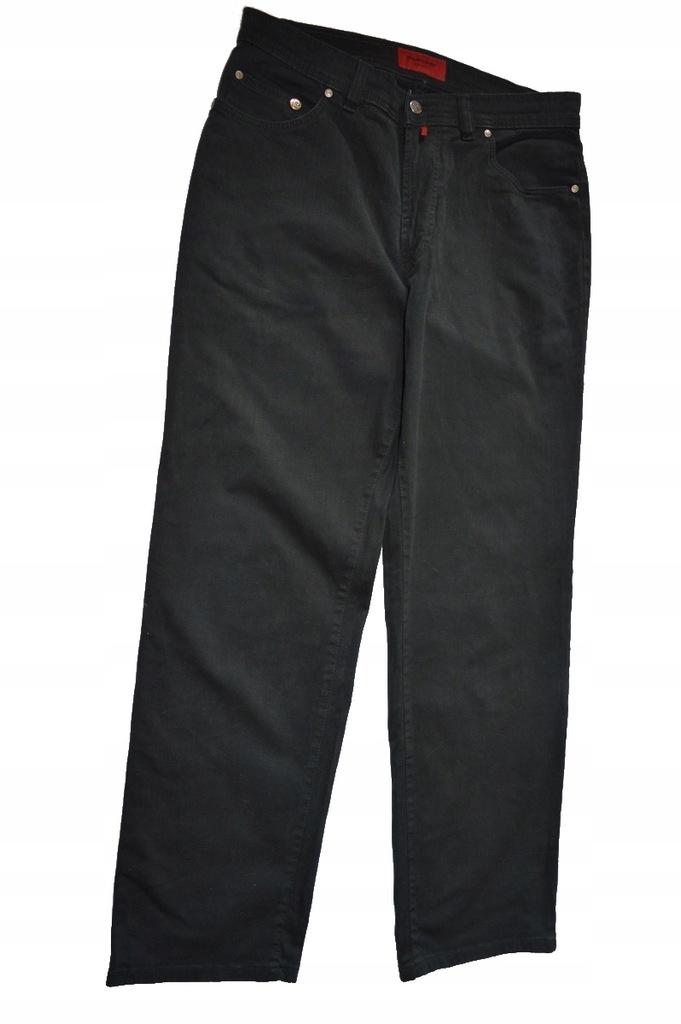 PIERRE CARDIN SUPER JEANSY 34/32 PAS:86CM BLACK !