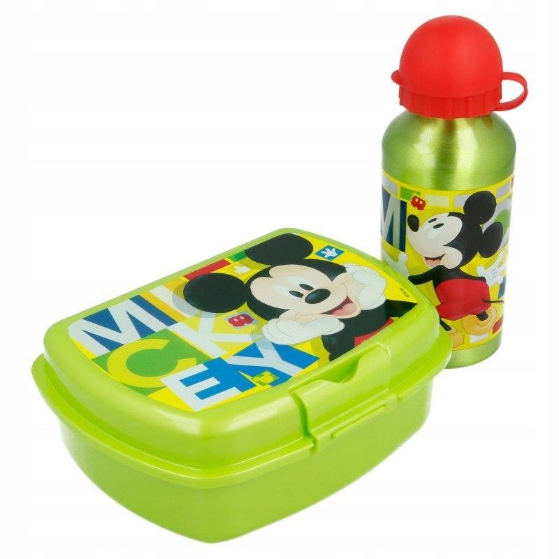Mickey Mouse - Śniadaniówka + bidon aluminiowy 400