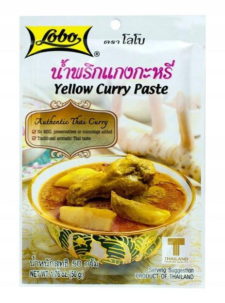 Żółta Pasta Curry 50g LOBO