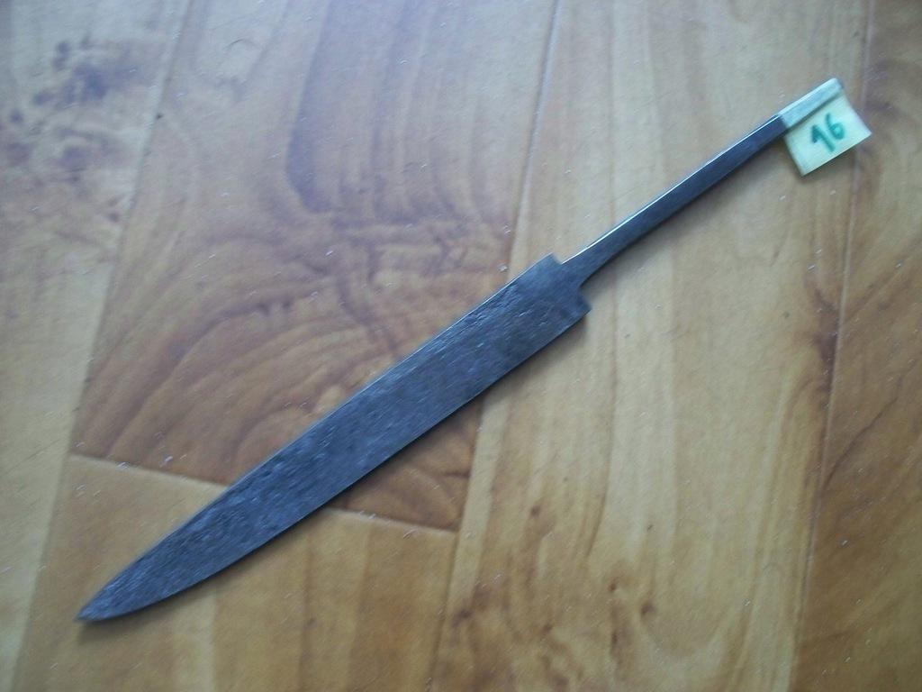 Nóż-Głownia noża kuta,hartowana Nr 16