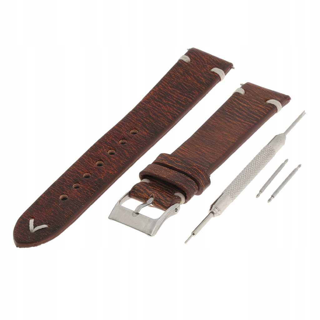 Pasek do zegarka pasek do wymiany - Brązowy 20mm