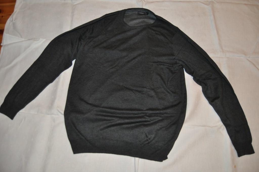 Sweter kardigan męski LIVERGY szary rozm. L