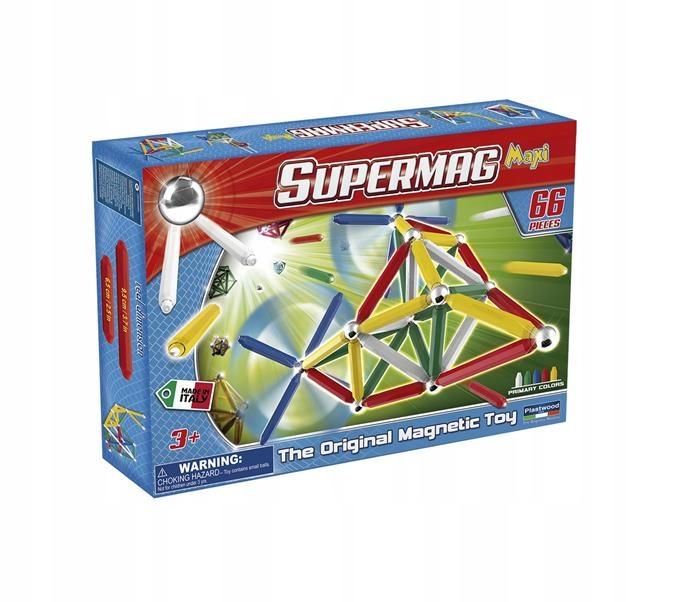 Klocki Magnetyczne Supermag Maxi Classic 66 El 9450883870 Oficjalne Archiwum Allegro