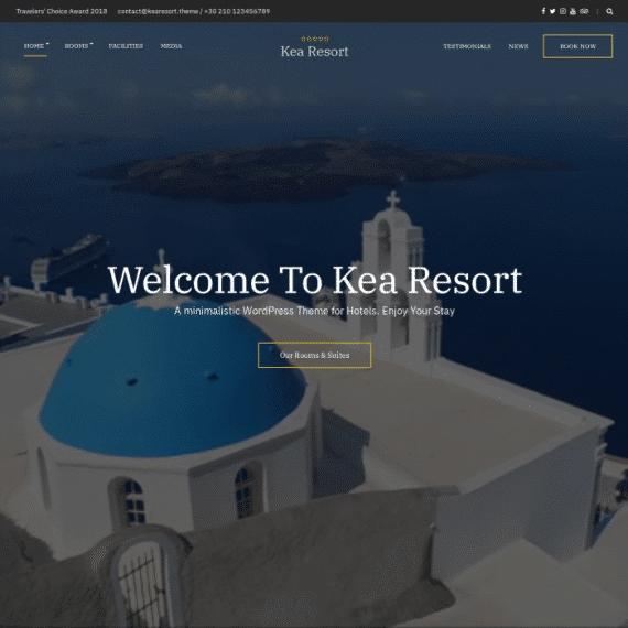Szablon Kea Hotel Theme