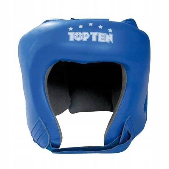 Kask bokserski skórzany AIBA Top Ten niebieski L