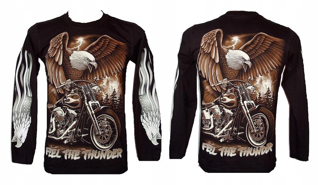 Koszulka z rękawem motor orzeł ROCK EAGLE 4285 S
