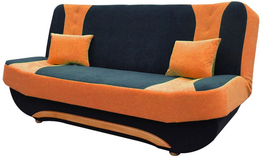 Kanapa EWA II rozkładana sofa pomarńczowa RIBES