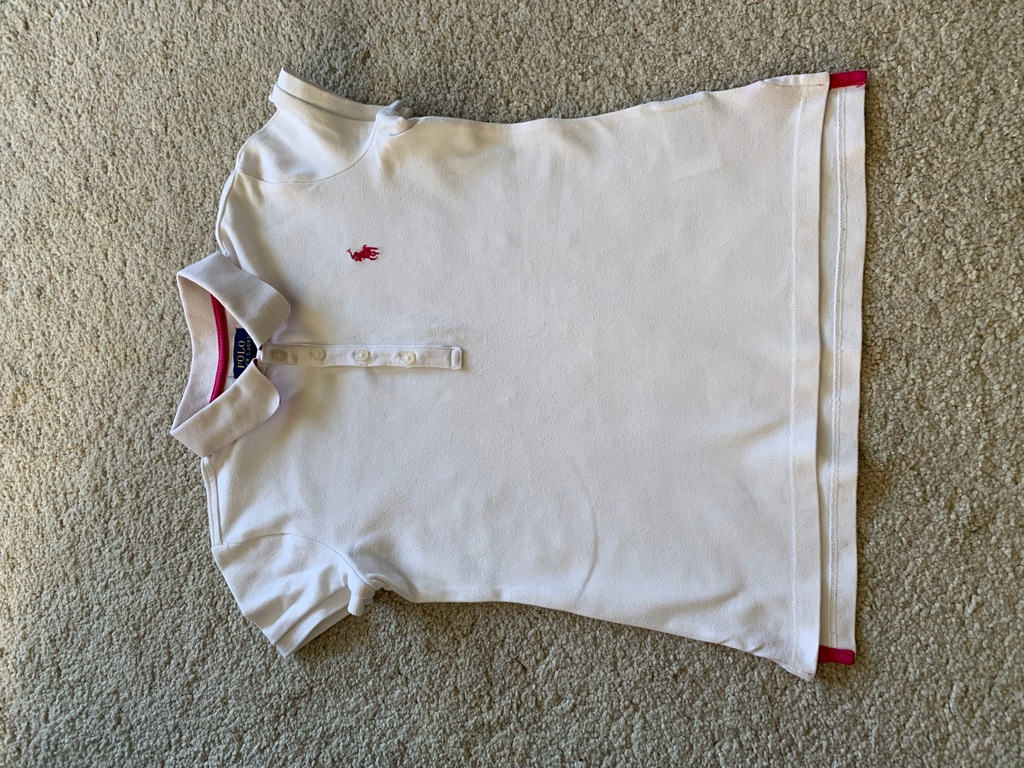 Ralph Lauren koszulka polo 8-10 M biały