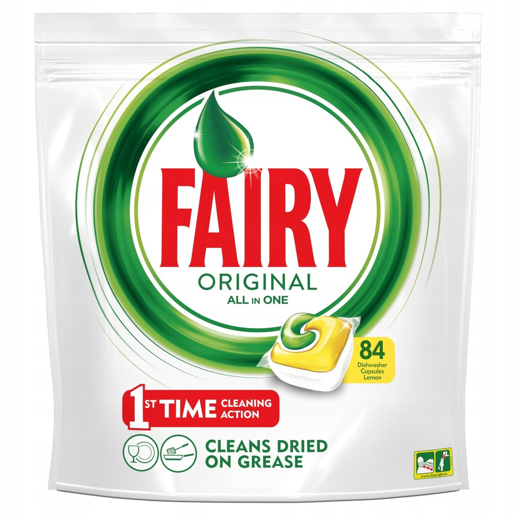 Fairy Original All In One Lemon Tabletki 84 sztuki