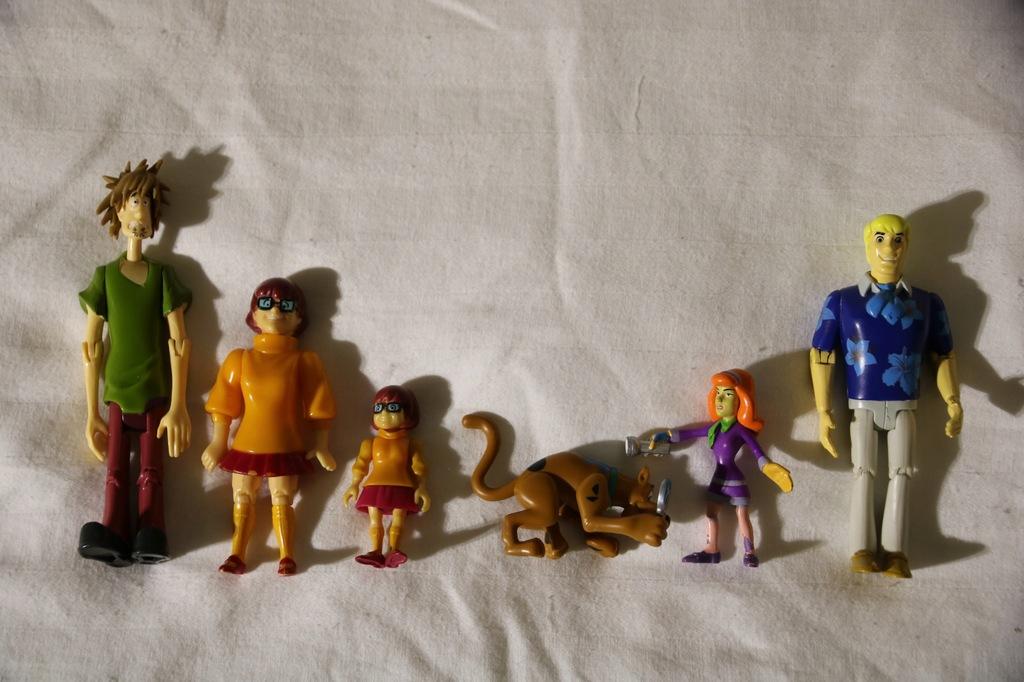 Scobby Doo Action Figure BANDAI 2001 i inne 7 SZT