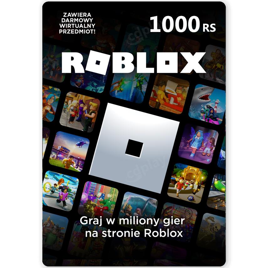 ROBLOX 1000 RS ROBUX - KOD PODARUNKOWY - KARTA