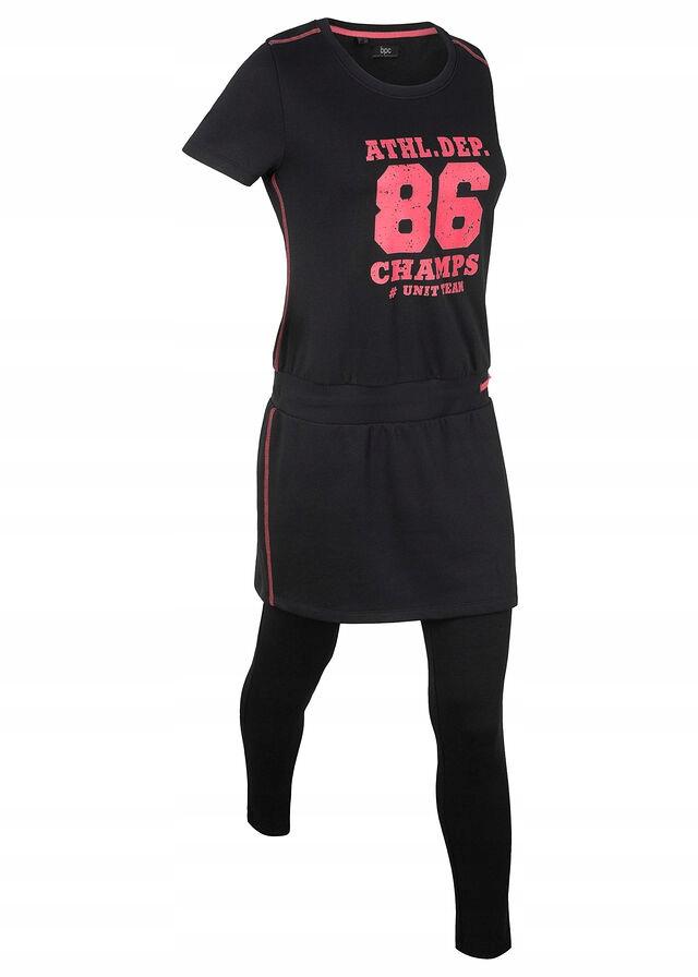 C359 BPC Shirt z legginsami, krótki rękaw r.40/42