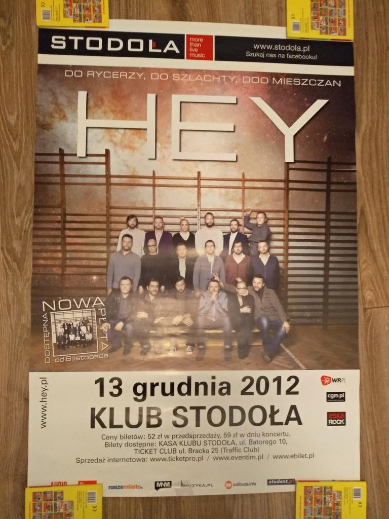Hey - plakat z koncertu z 2012 - do rycerzy do...