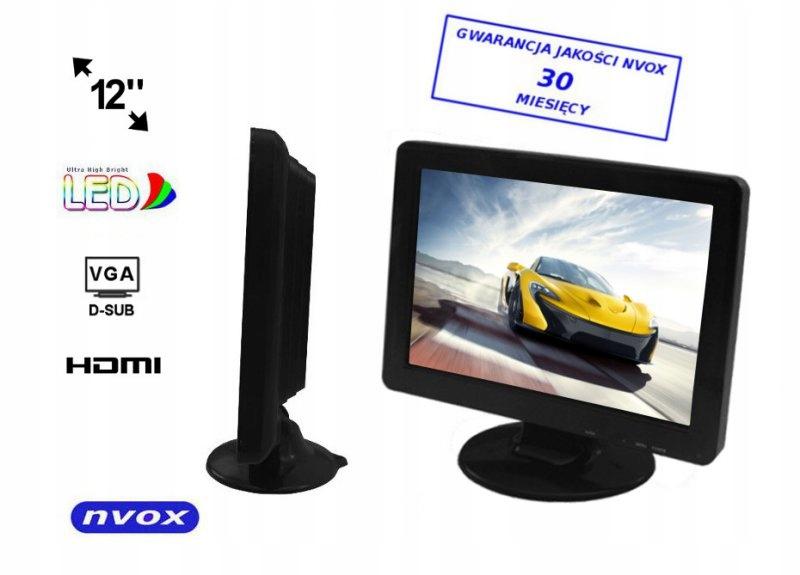 Monitor samochodowy lub wolnostojący LCD 12cali