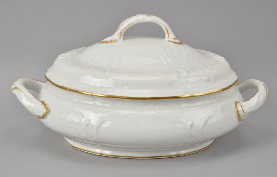 ROSENTHAL Sanssouci waza teryna biel złoto