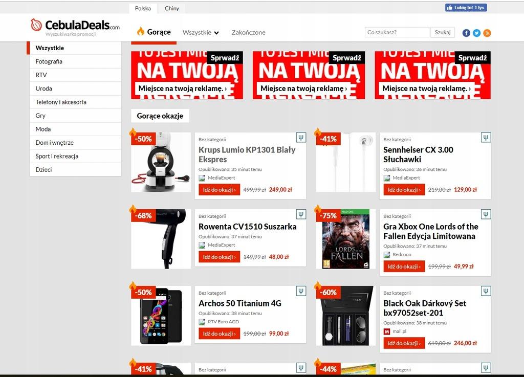 Baner Reklama Link na portalu z promocjami